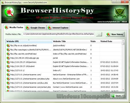 Browser History Spy 4 0 Free download